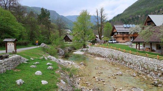 Бохинское озеро, Словения: Stara Fuzina village.