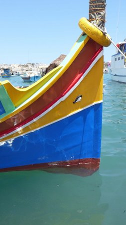 Marsaxlokk Bay : One of the many boats