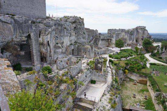 Chateau des Baux de Provence: Vue sur les ruines du château des Baux-de-Provence