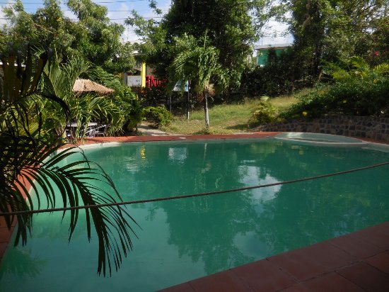 Mayreau: Dennis even has the only pool on the island