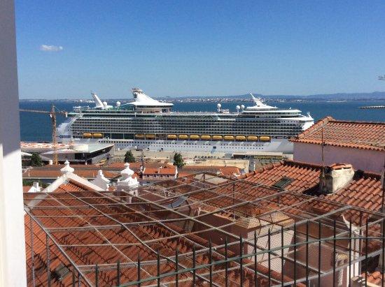 view from Miradouro de Santa Luzia Lisbon