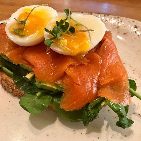 Yew Seafood + Bar : salmon avo toast