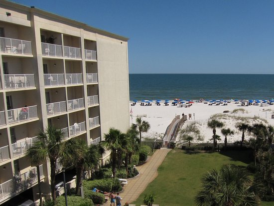 View From Hgi Orange Beach Room 502 Not What I Hoped For With A 39 Beachfront 39 Price Picture