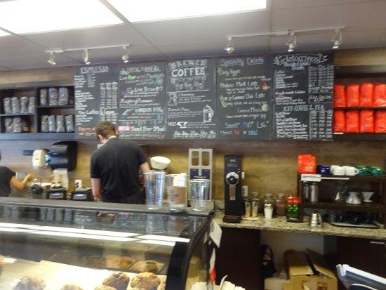 Fairfax, VA: view of counter + menu