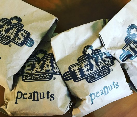 Texas Roadhouse : 4 Bags of peanuts to snack on tonight...
