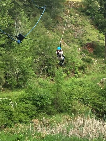 Friday Harbor, WA: one of the zip lines