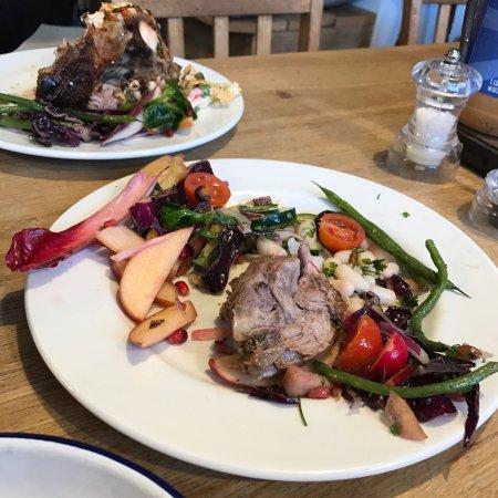 Sam's Kitchen: Main course - sala and lamb