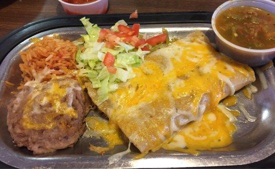Gallup, Nuevo Mexico: Chicken enchiladas