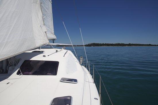 Fernandina Beach, FL: A view from the back of the catamaran