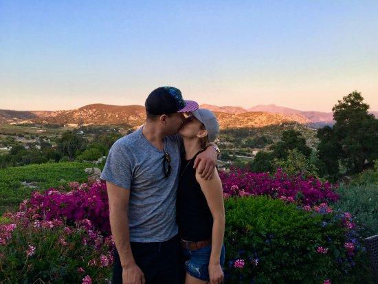 Ramona, CA: Sunset kiss!