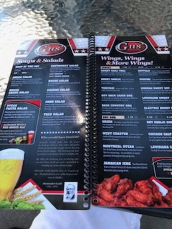 Menu selections, Gus's Pub 1573 Beach Dr, Port McNeill, British Columbia