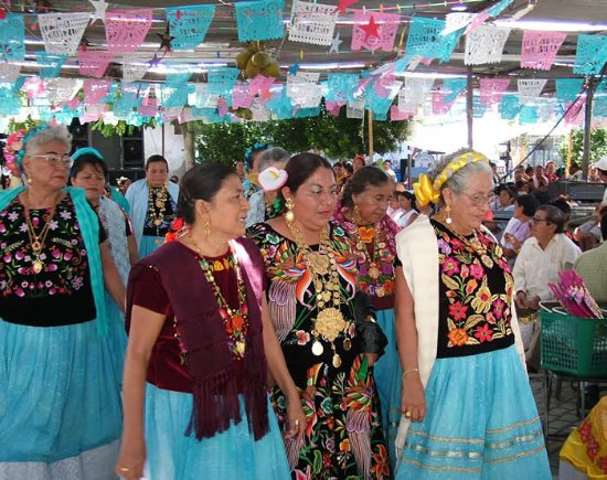 Martinez, CA: Oaxaca State, MEXICO. Vela festival with music, dancing, food, and women in most gorgeous clothe