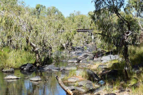 Mount Surprise, Australia: ElizabethCreek can be found 300 metres down a rock track at the back of the Park
