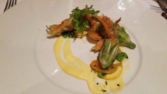 Restaurant August: stuffed squash blossoms
