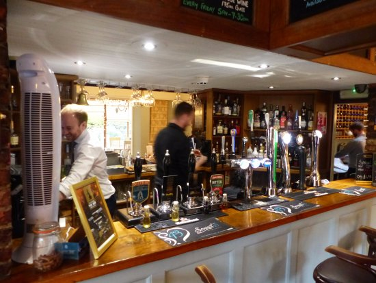 Aldwark, UK: Bar area in reception pub part of premises, great beers and many gins