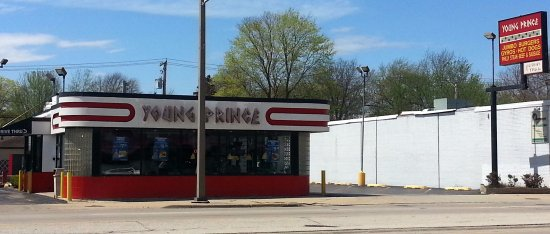 Westchester, IL: drive-thru window at Young Prince