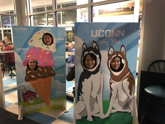 Uconn Dairy Bar: Went with different group of friends twice in one day and I had FIVE flavors, simply good! Their