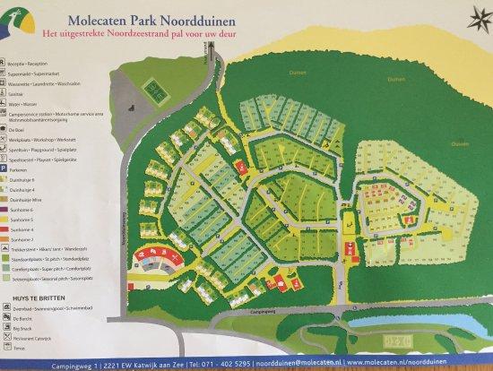 Vakantiepark Noordduinen : Map of the camping and park