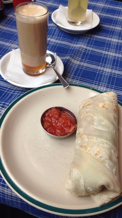 Northfield Cafe: A honey latte and a breakfast burrito make for a good start to the day