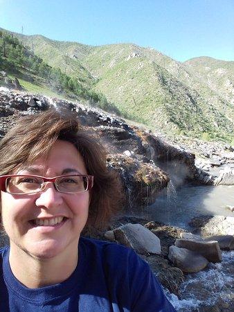 Kirkham Hot Springs: Hot springs selfie
