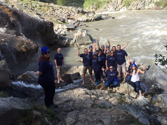 Lowman, ID: After our dip in the hot springs