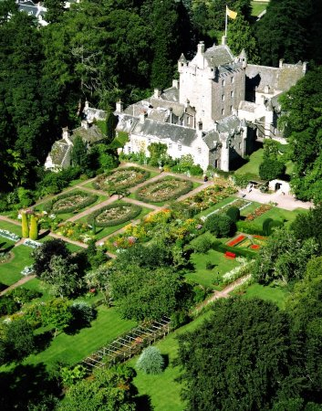 Nairn, UK: Cawdor Castle and gardens from the air