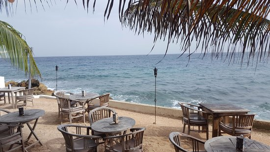 Scuba Lodge & Suites: Breakfast/Lunch/Dining area at the Ocean