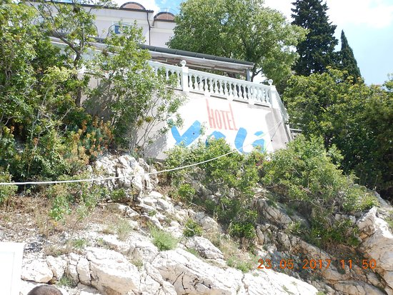 Dramalj, Croacia: Vom Strand gesehen