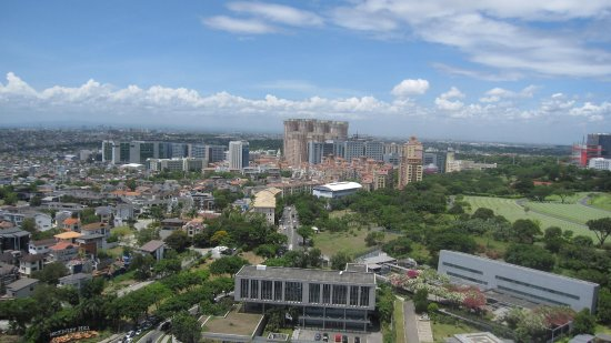 Taguig City, Filipinas: view above ridgewood towers over Taguig