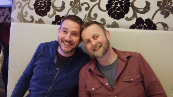 Burton upon Trent, UK: Nick and Paul in the Gurkha Curry Lounge
