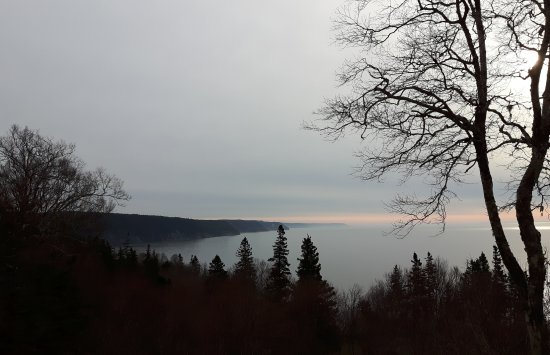 St. Martins, Canadá: Fundy Parkway at sunrise