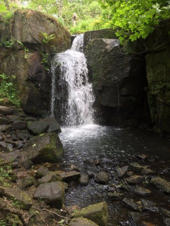 Tansley, UK: Local attraction Lumsdale Waterfall