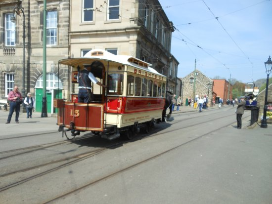 Matlock, UK: One of themany trams used for rides.