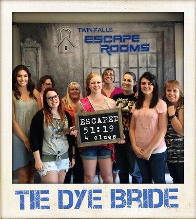 Twin Falls, ID: Tie Dye Bride