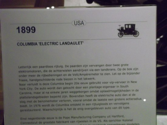 Uitleg Bij De Elektrische Auto Foto Van Louwman Museum Den Haag