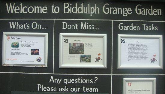 Biddulph, UK: The information board
