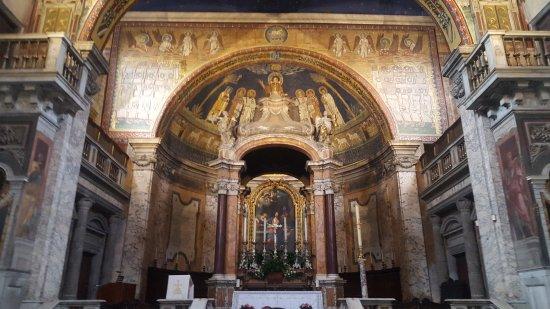 Basilica Di Santa Prassede: Mosaico sobre o altar