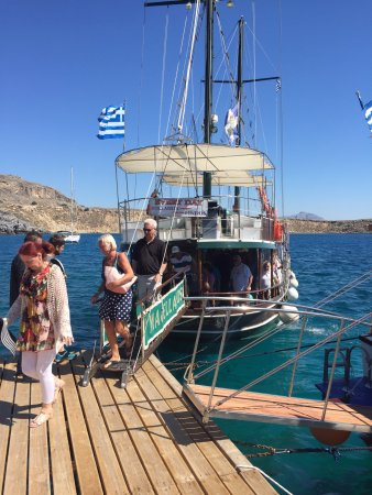 Kolimbia, Greece: Lindos dock