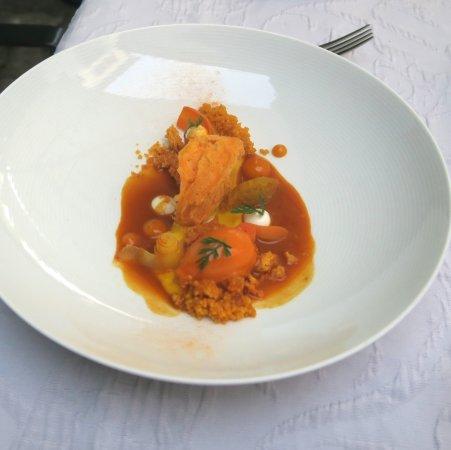 Endingen am Kaiserstuhl, Germany: variation sur la carotte / Couscous / Citron /Poivre Sansho