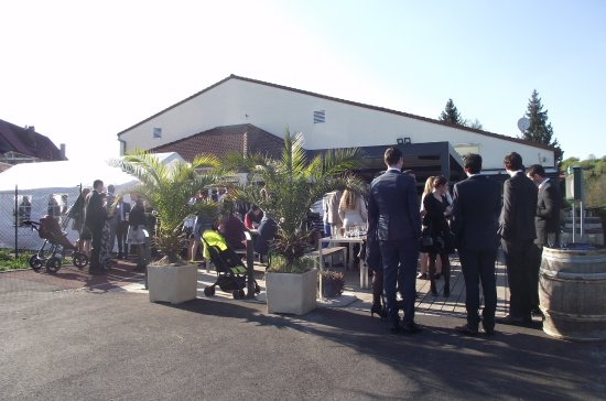 Wittring, France: Vin d'honneur en extérieur