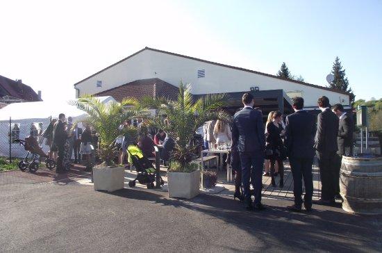 Wittring, ฝรั่งเศส: Vin d'honneur en extérieur