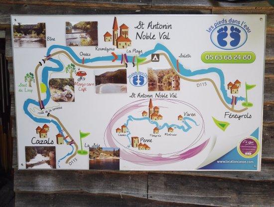 Saint-Antonin Noble Val, Frankrike: Le parcours