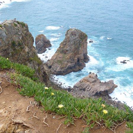Colares, Portugal: En regardant vers le Sud (noter le drapeau !)