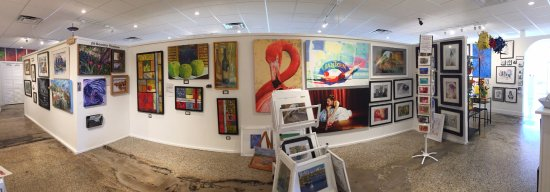 Ormond Beach, FL: a Panoramic View of a section of our Art Gallery