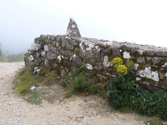 Colares, Portugal: muret du chemin d'accès au sanctuaire