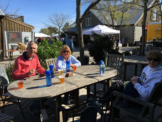 Nantucket Bike Tours: End of the bike tour at Cisco Brewery