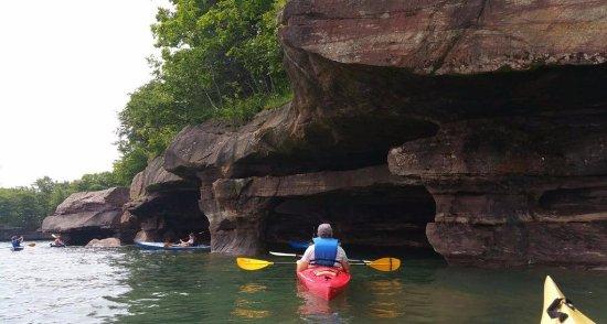 La Pointe, WI: Exploring the caves