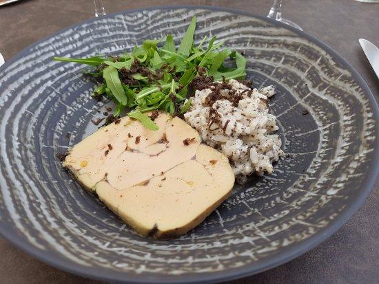 Grand Hotel Pelisson : Risotto de truffes & Foie-gras