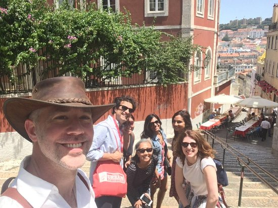 Lisbon Urban Adventures : Admiring the beautiful view of Lisbon on the way to our beer stop!
