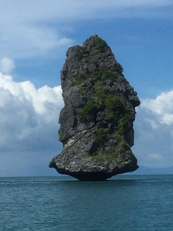 Bophut, Thailand: Neat limestone formation